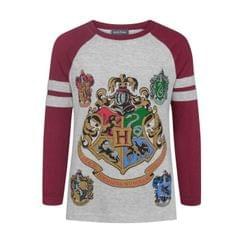Harry Potter Official Girls Hogwarts Raglan T-Shirt