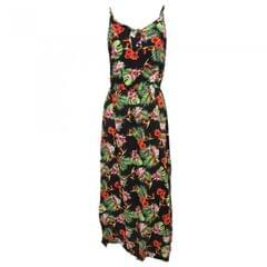 Womens/Ladies Tropical Jungle Print Strappy Maxi Summer Dress