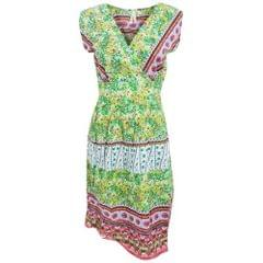 Womens/Ladies Paisley Pattern Sleeveless Crossover Summer Dress