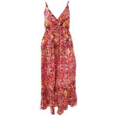 Womens/Ladies Spotty Pattern Print Strappy Crossover Maxi Summer Dress