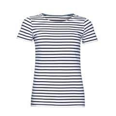 SOLS Womens/Ladies Miles Striped Short Sleeve T-Shirt