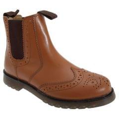 Grafters Unisex Brogue Gusset Dealer Boots
