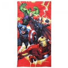 Marvel Childrens Boys Avengers Characters Printed Velour Beach Towel