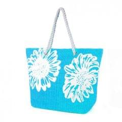 Womens/Ladies Floral Print Woven Summer Handbag