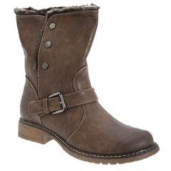 Cats Eyes Womens/Ladies Fold Down Biker Style Ankle Boots