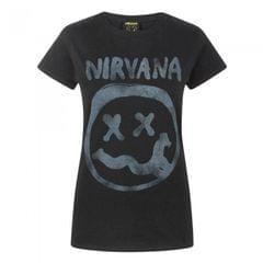 Nirvana Womens/Ladies Smiley Logo T-Shirt