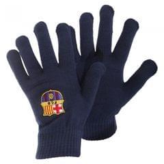 FC Barcelona Mens Official Core Winter Football Crest Gloves