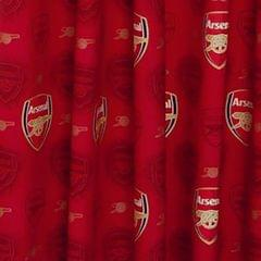 Arsenal FC Official Ready Made Repeat Crest Curtains
