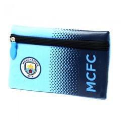 Manchester City FC Official Fade Flat Football/Soccer Crest Pencil Case