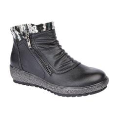 Cipriata Womens/Ladies Gina Knitted Collar Ankle Boot