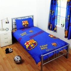FC Barcelona Childrens/Kids Official Patch Football Crest Single Duvet Set