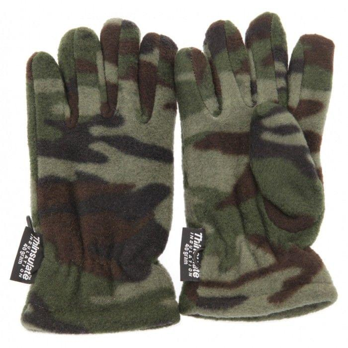 Childrens Little Boys Camouflage Thermal Winter Gloves (3M 40g)