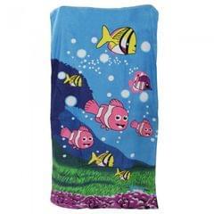 Sealife Fish Design Velour Beach Towel