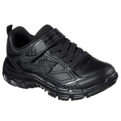 Skechers Childrens/Boys Nitrate Microblast Leather Shoes