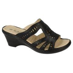Eaze Womens/Ladies Slip On Wedge Mules