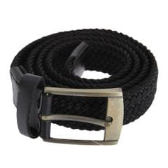 Forests Belts Mens Elasticated Webbed Belt Trimmed With Real Leather