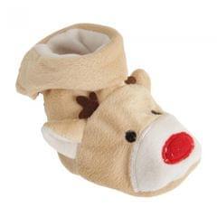 Nursery Time Baby Christmas Rudolph Booties