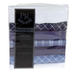 Pierre Roche Mens 100% Cotton Patterned Handkerchief (7 Pack)