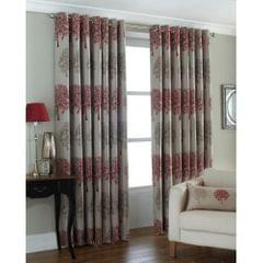 Riva Home Oakdale Tree Design Eyelet Curtains