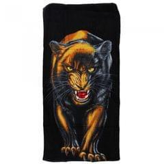 Black Panther Design Velour Beach Towel