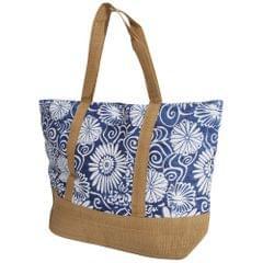 FLOSO Womens/Ladies Woven Floral Print Summer Handbag