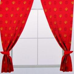Manchester United FC Official Repeat Crest Curtains