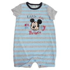 Disney Mickey Mouse Little Prince Baby Short Sleeve Stripe Romper Playsuit