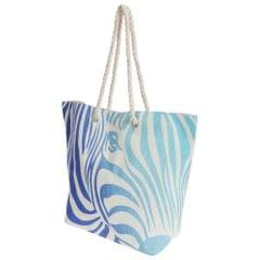 FLOSO Womens/Ladies Zebra Stripe Patterned Straw Woven Summer Handbag