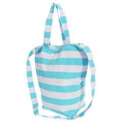 FLOSO Womens/Ladies Striped Summer Handbag With Shoulder Strap