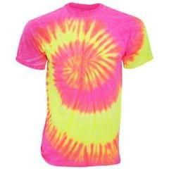 TDUK Mens Short Sleeve Rainbow Tie Dye T-Shirt