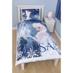 Disney Frozen Childrens Girls Elsa Reversible Single Duvet Cover Bedding Set