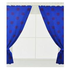 FC Barcelona Childrens/Kids Official Ready Made Football Crest Curtains