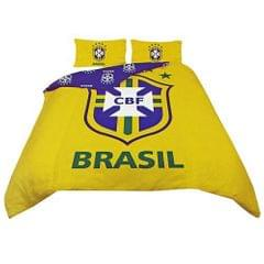 Brazil Football Official Reversible Duvet Cover Bedding Set (Single And Double)