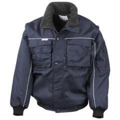 Result Mens Workgaurd Zip Sleeve Heavy Duty Water Repellent Windproof Jacket