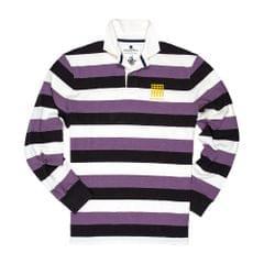 Black & Blue 1871 Herren Belsize Park Knöpfe Rugby Polohemd