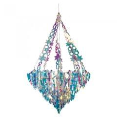Christmas Shop Holographic Icicle Chandelier