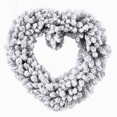 Verschneiter Herz Kranz