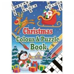 Christmas Shop Christmas Color And Puzzle Book