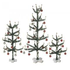 Heaven Sends Vintage Style Mini Trees Set Of 3