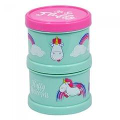 Despicable Me Childrens/Kids Fluffy Unicorn 2 Piece Snack Container