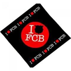 FC Barcelona Official I Love FCB Football Tea Towel