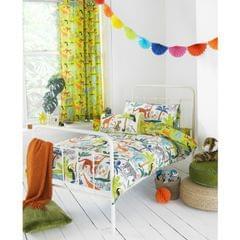 Riva Paoletti Childrens/Kids Jungletastic Ringtop Eyelet Curtains