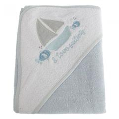 Snuggle Baby Baby-Handtuch mit Kapuze, Segelboot-Motiv