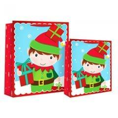 Eurowrap Weihnachtliche Geschenktüte mit Elf-Design