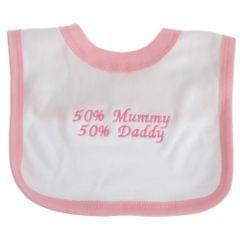Baby Lätzchen mit Design 50% Mummy, 50% Daddy