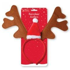 Home Collection Christmas Reindeer Antlers And Santa Hat Headband