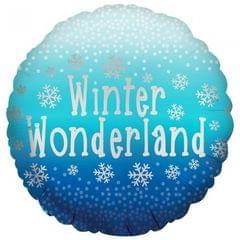 Anagram Folien-Ballon mit Aufschrift Winter Wonderland, rund, 46 cm