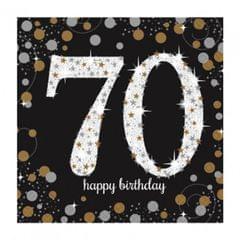 Amscan Glitzer- Servierten zum 70 Geburtstag