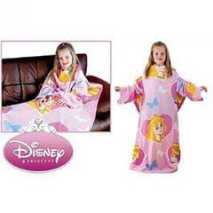 Childrens/Kids Girls Disney Princess Sleeved Fleece Snuggle Blanket