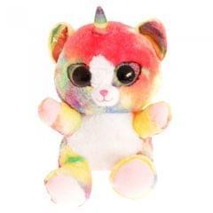 Keel Toys Animotsu Plüschtier-Katze mit Regenbogen-Design